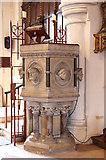 TQ2976 : Christ Church, Union Grove - Pulpit by John Salmon