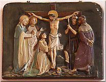 TQ2976 : Christ Church, Union Grove - Station of the Cross by John Salmon