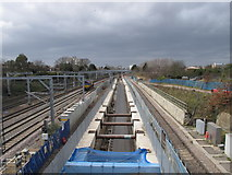TQ1980 : Acton Crossrail diveunder construction - view west by David Hawgood