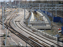 TQ1980 : Acton Crossrail diveunder construction - view east of goods lines by David Hawgood