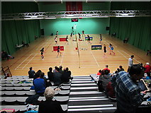 TQ4490 : Spectators at badminton tournament, Redbridge by David Hawgood