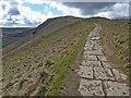 SK1384 : Stone flagged path to Mam Tor by Steve  Fareham