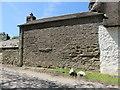 SW6325 : Bench mark on cottage by Mrs Blorenge