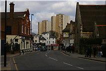 TQ1980 : View north along Gunnersbury Lane, W3 by Christopher Hilton