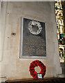 TG1222 : World War one Memorial in Booton church by Adrian S Pye