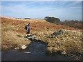 NY4917 : Stone slab footbridge, Willdale Beck by Karl and Ali