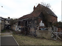 TM3863 : Path to the B1121 High Street & Derelict Business Premises by Adrian Cable