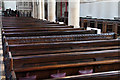 TQ3286 : St Mary, Church Street, Stoke Newington - Pews by John Salmon