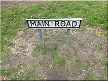 TM3864 : Main Road sign by Adrian Cable