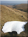 NY4617 : Snow patch in Howe Grain by Karl and Ali