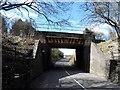 SU8098 : Railway bridge north of Saunderton Station by Bikeboy