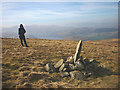 NY4518 : Boundary stone, north side of Loadpot Hill by Karl and Ali