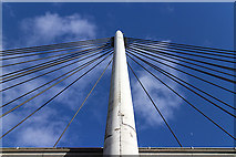 NO2601 : River Leven suspension bridge, detail view by William Starkey