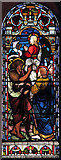TQ3075 : St Andrew, Landor Road - Stained glass window by John Salmon
