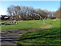 NZ1566 : Play area, Throckley Park by Andrew Curtis
