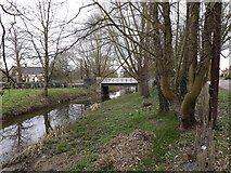 TM2384 : River & Bridge by Geographer