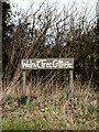 TM2486 : Walnut Tree Cottage sign by Geographer