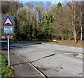 ST1281 : Humps for half a mile ahead on Ffordd Treforgan, Morganstown, Cardiff by Jaggery