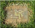 SP2872 : Kenilworth Abbey trail, dormitory plaque, Abbey Fields, Kenilworth by Robin Stott
