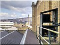 SE1438 : Salts Mill, Looking over the Weaving Sheds by David Dixon