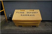 TA0827 : Flood defence sandbags on Tadman Street, Hull by Ian S