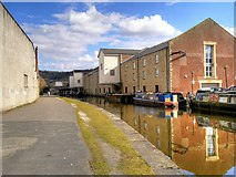 SE1437 : Leeds and Liverpool Canal, Warehouses at Wharf Street (1) by David Dixon
