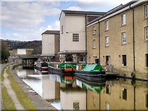 SE1437 : Leeds and Liverpool Canal, Warehouses at Wharf Street (2) by David Dixon