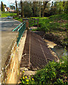 SP2872 : Grille to catch debris on the upstream side of the Ford, Castle Road, Kenilworth by Robin Stott