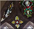 TQ4707 : 15th century glass, St Peter's church, Firle by Julian P Guffogg