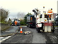 H4672 : Lifting tarmac, Knockgreenan Drive, Omagh by Kenneth  Allen