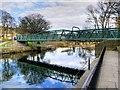 SE1338 : River Aire Footbridge at Saltaire by David Dixon