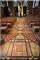 SJ4066 : Floor tiles in Chester Cathedral by Jeff Buck