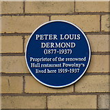 TA0731 : Blue Plaque to Peter Louis Dermond by Ian S