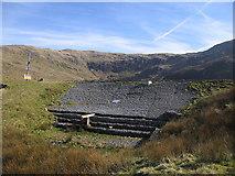 SN7987 : Dam, Llyn Llygad Rheidol by Rudi Winter