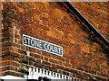 TM2483 : Stone Court sign by Adrian Cable