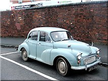 SO8555 : Vintage 1968 Morris Minor parked at Worcester Shrub Hill station by Chris Whippet