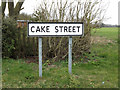 TM2773 : Cake Street sign by Adrian Cable