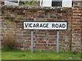 TM2972 : Vicarage Road sign by Adrian Cable