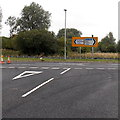 ST3986 : Destination choices at a road junction near Magor by Jaggery