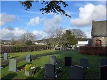 SD3876 : St Mary, Allithwaite: churchyard by Basher Eyre