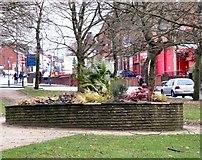SJ9499 : Flowerbed near Crickets Lane by Gerald England