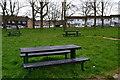 TQ3764 : Picnic table beside recreation ground at New Addington by David Martin