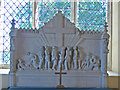 TG1435 : The War Memorial reredos in Barningham Winter St Mary's by Adrian S Pye
