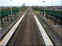 SK8975 : Saxilby Station by Richard Croft