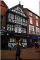SJ6552 : Nantwich: half-timbered building commemorating the Great Fire by Christopher Hilton