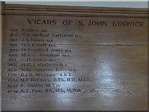 NY2623 : Keswick St John: incumbency board by Basher Eyre