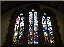 NY2623 : Keswick St John: stained glass window  (2) by Basher Eyre