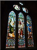 NY2623 : Keswick St John: stained glass window (4) by Basher Eyre