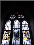 NY2623 : Keswick St John: stained glass window  (10) by Basher Eyre