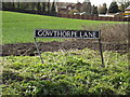 TG2002 : Gowthorpe Lane sign by Adrian Cable